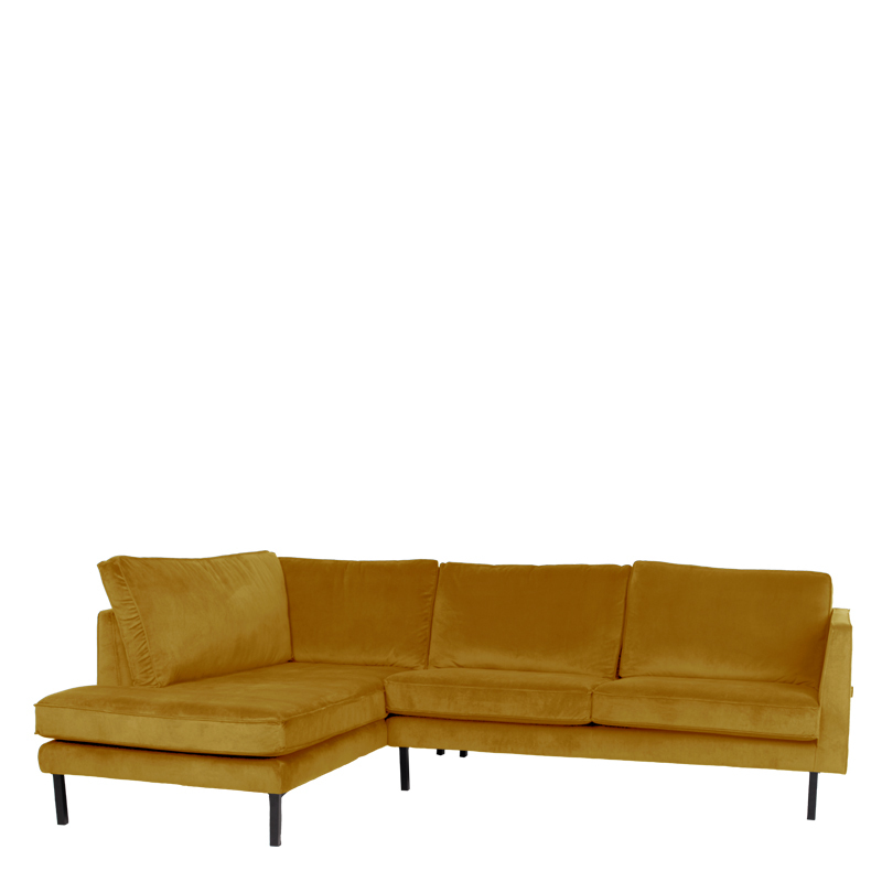 PERUGIA LOUNGE SOFA LEFT SEVEN OCRE
