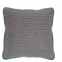HERRINGBONE PILLOW GREEN 50X50