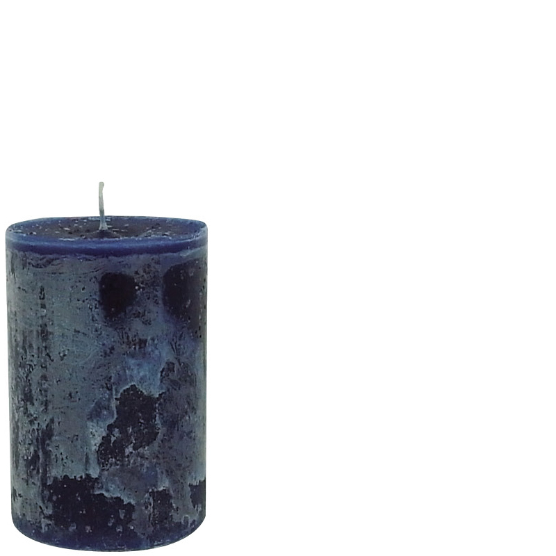 LUDO CANDLE Ø10X15 DARK BLUE