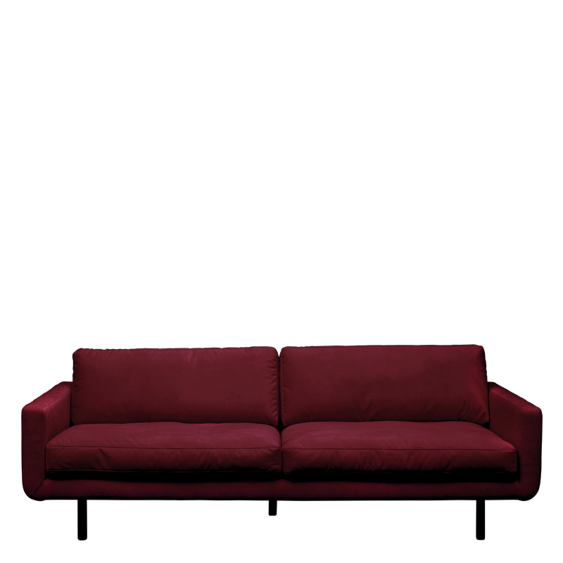 GENUA SOFA VELVET WINE RED