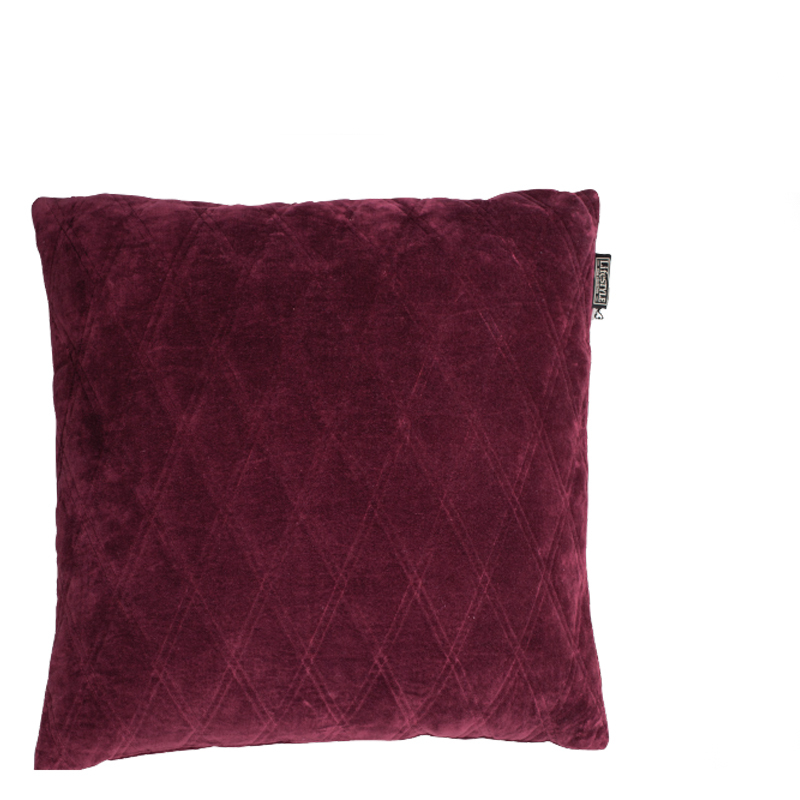 DASCHA PILLOW WINE RED 50X50