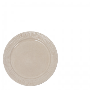 ETHNIC CERAMIC PLATE CREAM