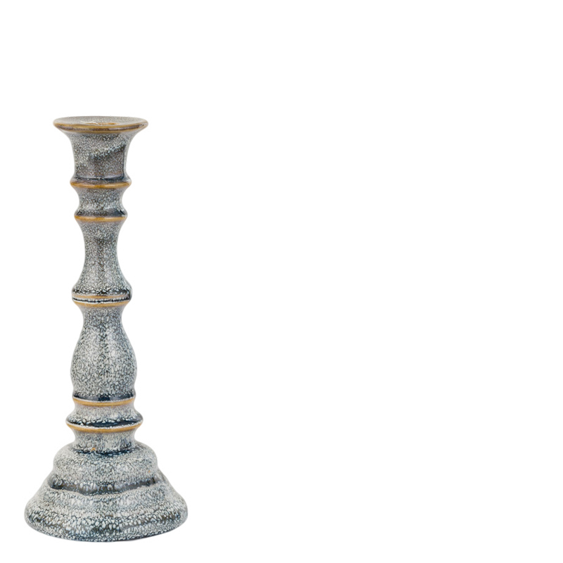 BUBBLE CANDLE HOLDER GREY M
