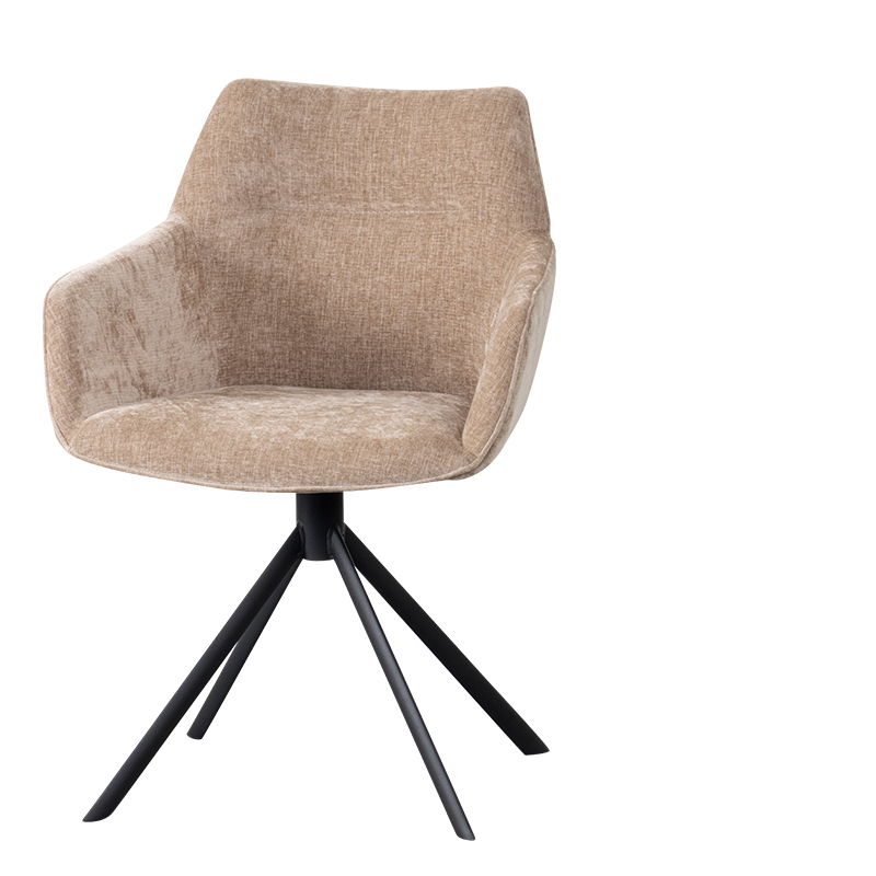 JOHNSON ROTATING DINING CHAIR CROWN SAND W-59/D-60/H-84