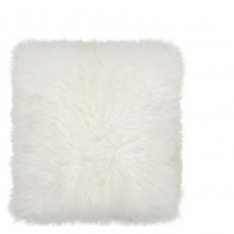 TIBETAN LAMB FUR PILLOW NATURAL 40X40