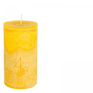 MICHEL CANDLE Ø10X20 YELLOW