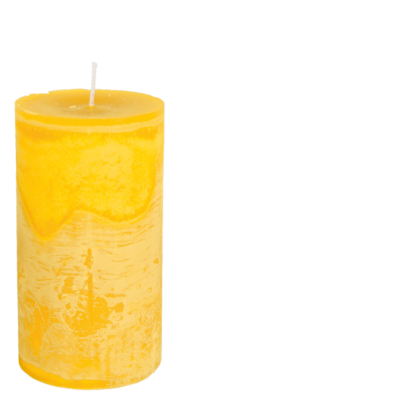 RONALD CANDLE Ø7X25 YELLOW