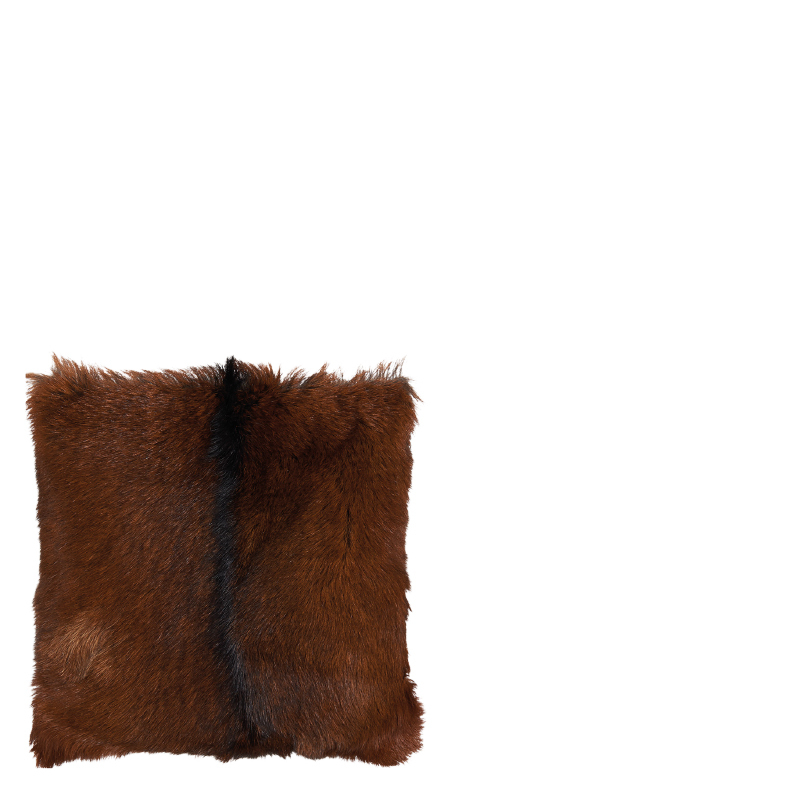 GOAT FUR PILLOW NATURAL BROWN 40x40