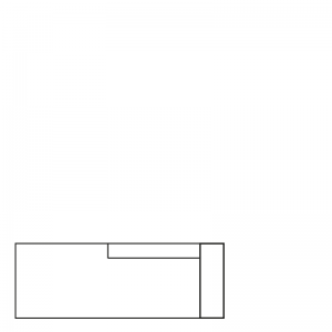 MILAN DAYBED RIGHT SEVEN OCRE 23 B-215/H-88/D-100