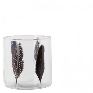 FEATHER VOTIVE TRANSPARENT S