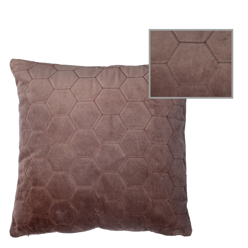 LERAINE PILLOW BROWN 50X50