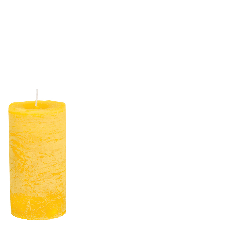 LUDO CANDLE Ø10X15 YELLOW