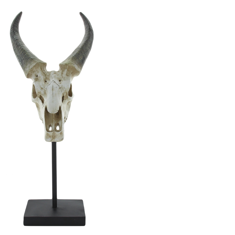 RAM SKULL ON STAND NATURAL