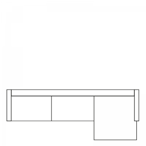MILAN LOUNGE SOFA RIGHT SEVEN COPPER 126 B-280/H-88/D-160