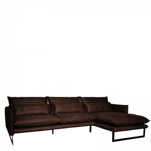 MILAN LOUNGE SOFA RIGHT MERSEY DARK BROWN