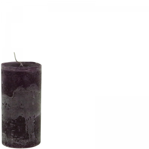 LARS CANDLE Ø7X15 PURPLE
