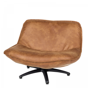 FORLI FAUTEUIL BROWN BLACK LEG