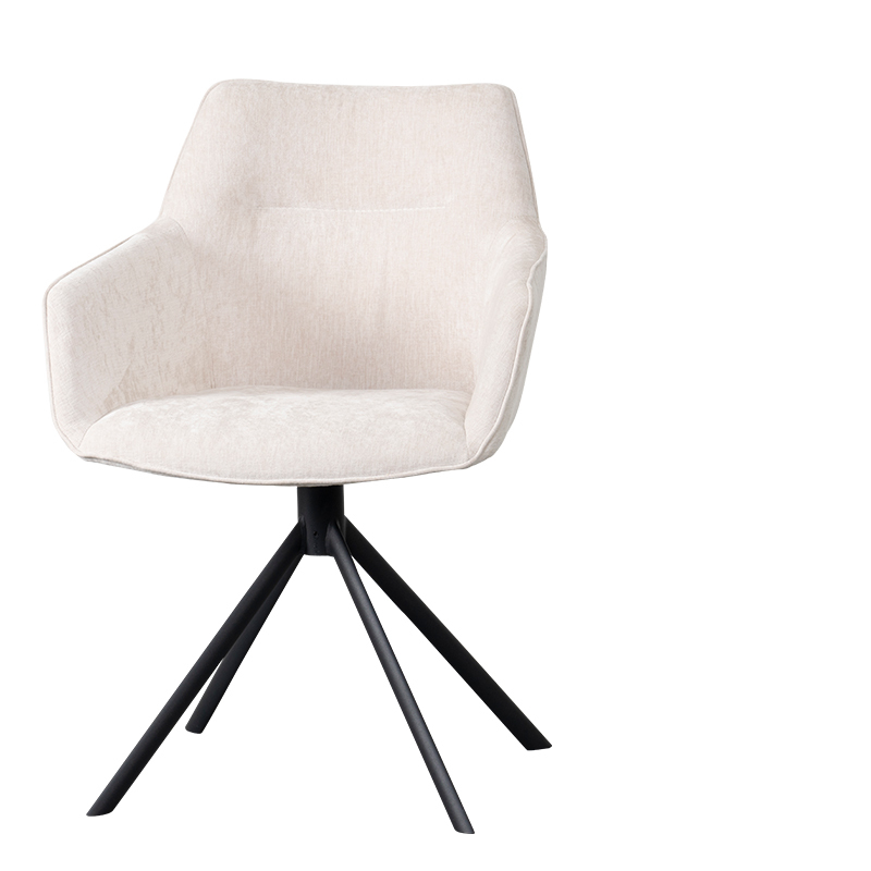 JOHNSON ROTATING DINING CHAIR CROWN ECRU W-59/D-60/H-84