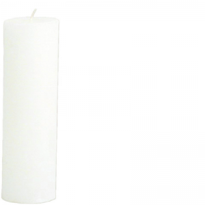 RONALD CANDLE Ø7X25 WHITE