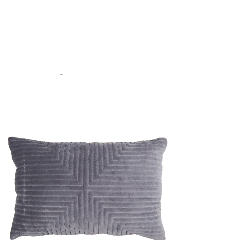 ELEONORA PILLOW DARK GREY 60x40