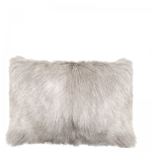 GOAT FUR PILLOW LIGHT GREY 50X30