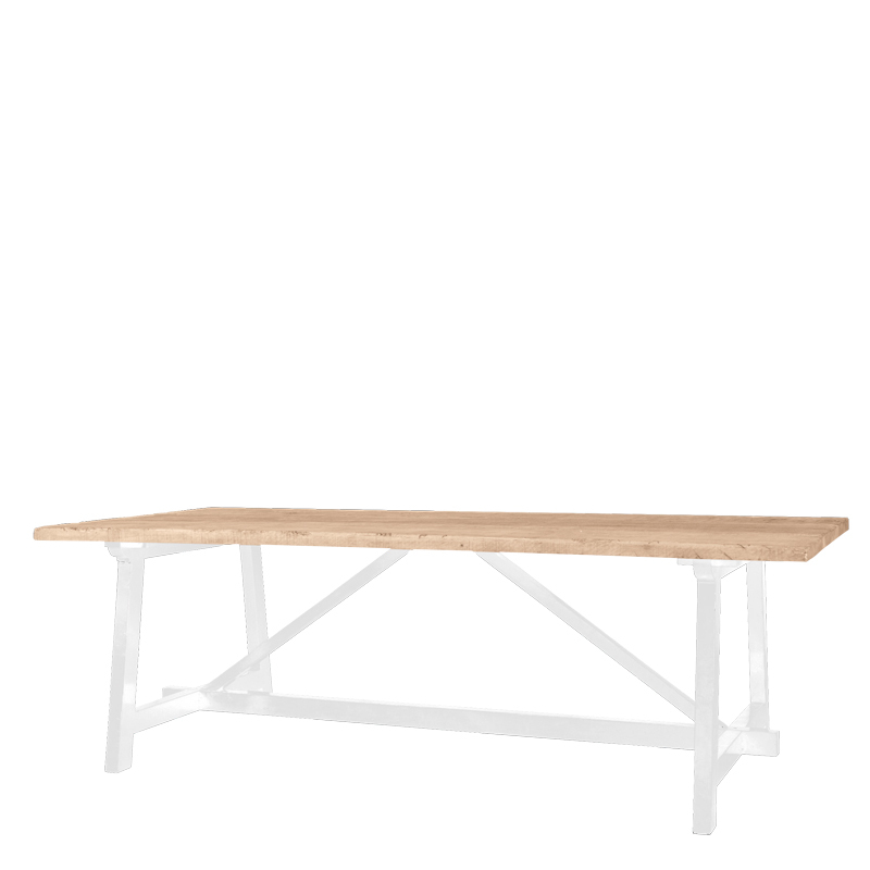 BRUGGE DINING TABLE WHITE LEGS 240X100X76