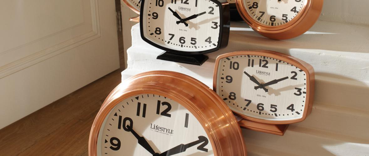 DESK CLOCK COPPER RECTANGULAR