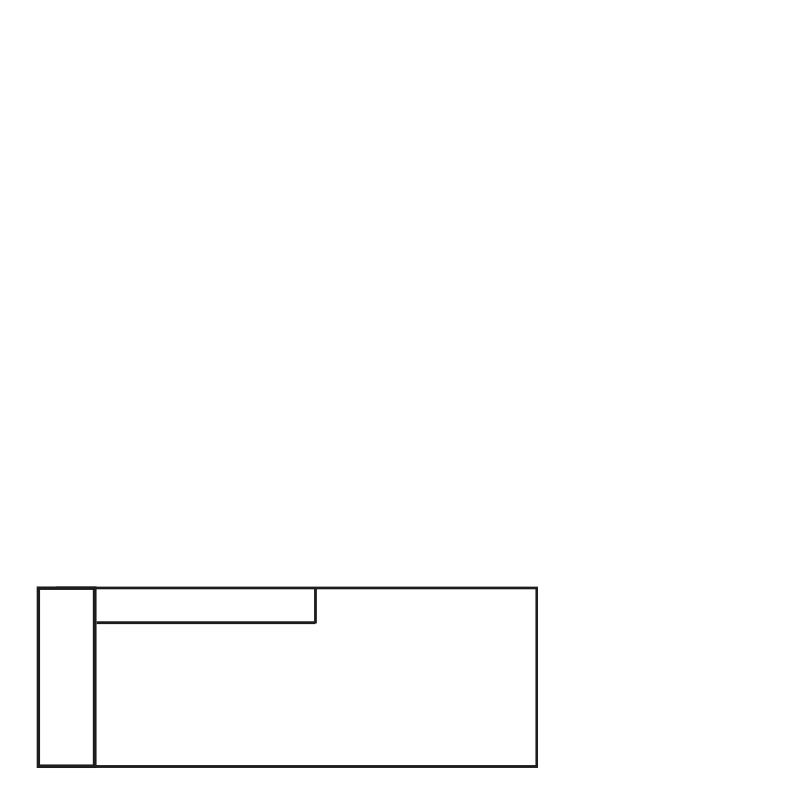 MILAN DAYBED LEFT SEVEN WINE RED 39 B-215/H-88/D-100