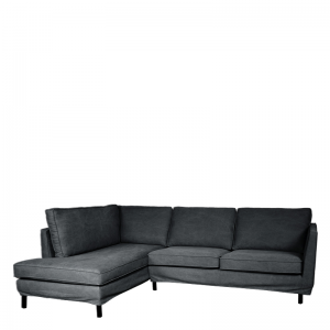 PERUGIA LOOSE COVER LOUNGE SOFA LEFT LAVABO ANTHRACITE