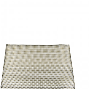 PLAITED PLACEMAT SILVER/GREY S/4