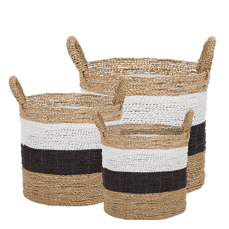 ULAN BASKET BLACK/WHITE SET/3 (128152/128153/128154)