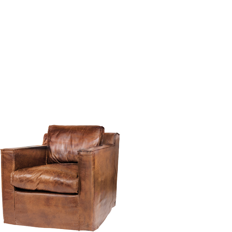 MEMPHIS 1 SEAT BROWN LEATHER