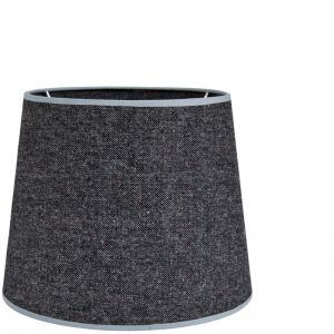 OXFORD COTTON SHADE ROUND DARK GREY L