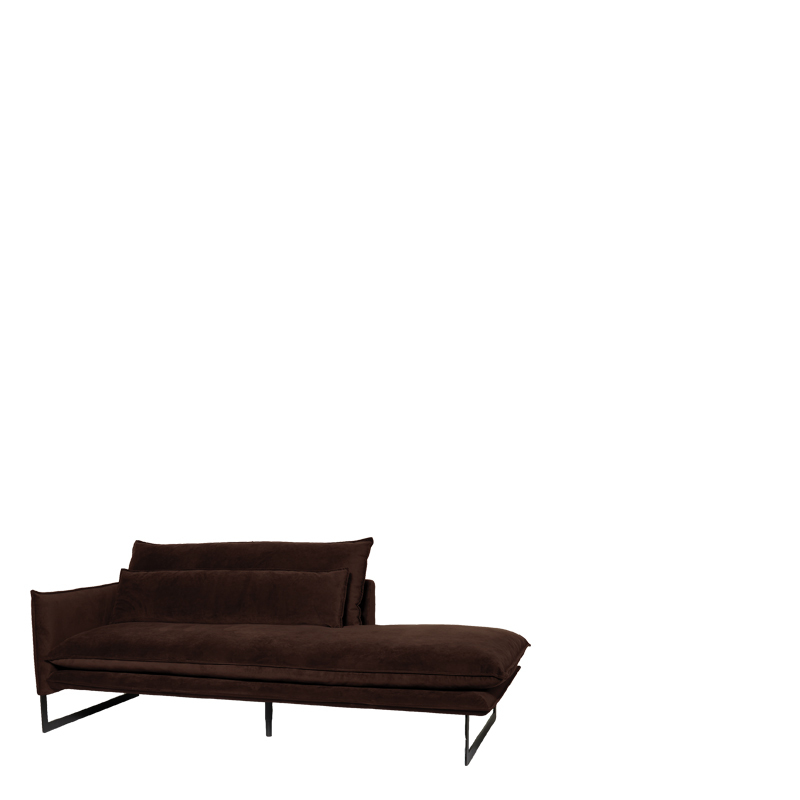 MILAN DAYBED LEFT SEVEN DARK BROWN 18 B-215/H-88/D-100