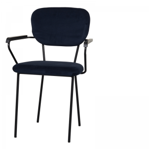 CLEVELAND DINING ARMCHAIR NAVY