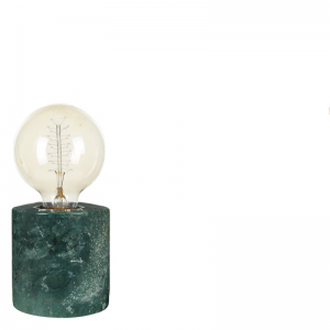 MARBLE TABLE LAMP GREEN S