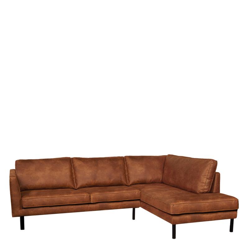 Perugia lounge sofa right colorado cognac lifestyle - Lifestyle home collection ...