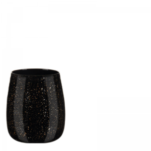 MALJA VASE BLACK GOLD S