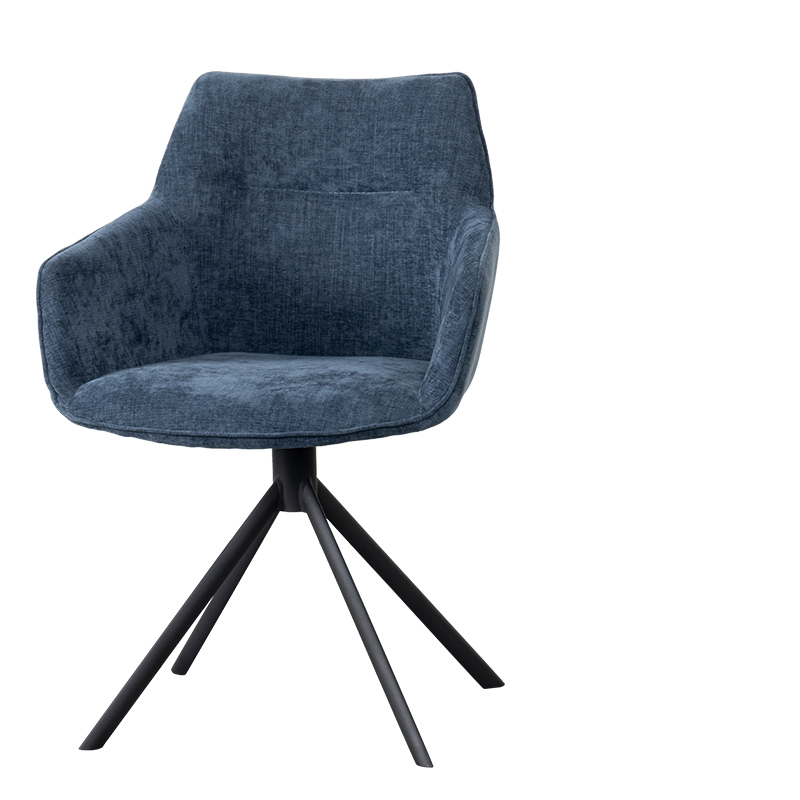 JOHNSON ROTATING DINING CHAIR CROWN BLUE W-59/D-60/H-84