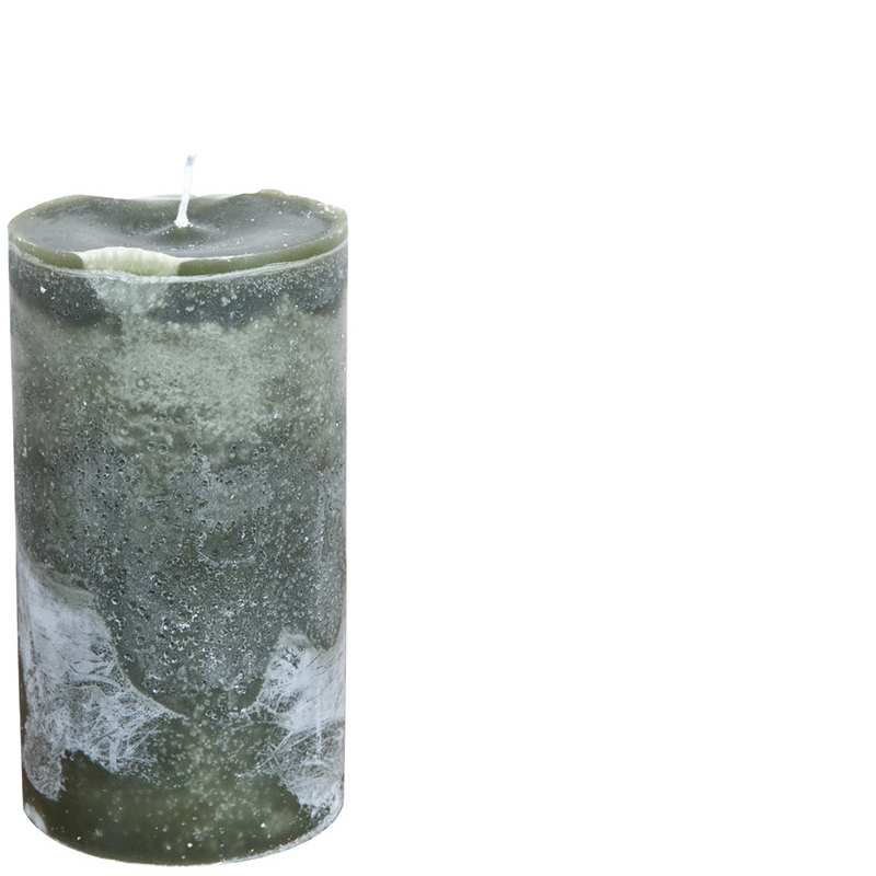 MICHEL CANDLE Ø10X20 MOSSGREEN