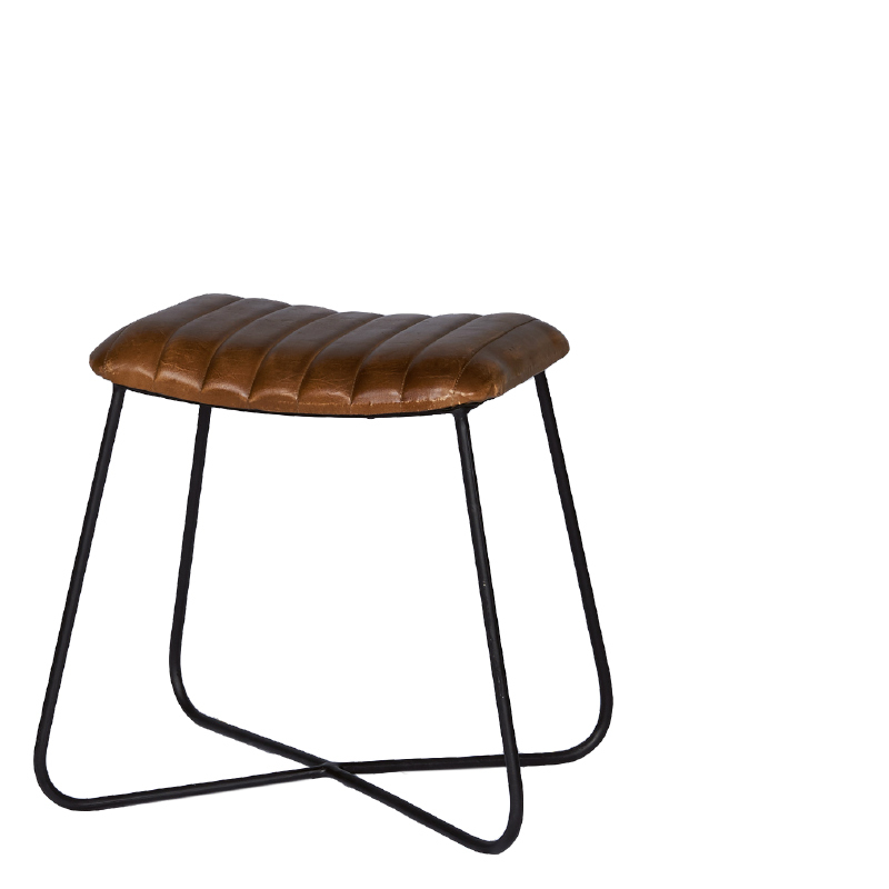 EMPIRE STOOL RECTANGULAR COGNAC 48X35X45