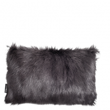 GOAT FUR PILLOW DARK GREY 50X30