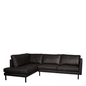 PERUGIA LOUNGE SOFA LEFT COLORADO DARK GREY
