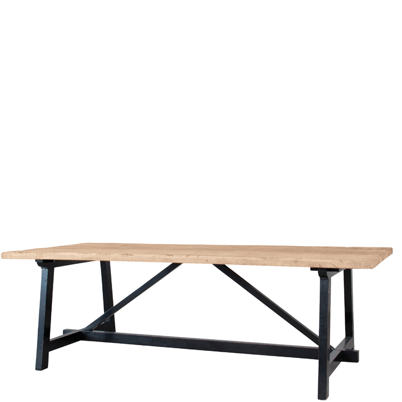 brugge dining table black legs 240x100x76 lifestyle home