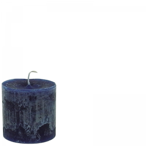 BERT CANDLE Ø10X10 DARK BLUE