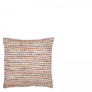 ALMIRO PILLOW STRIPES BROWN 45X45
