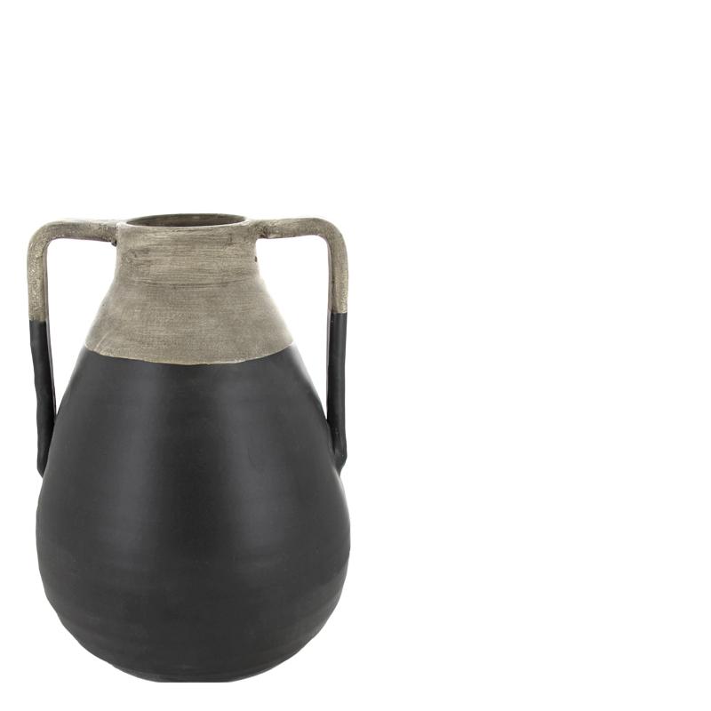 Jorge vase black l lifestyle home collection - Lifestyle home collection ...