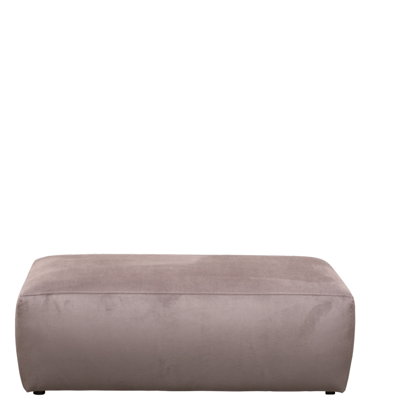 GENUA HOCKER VELVET GREY 65 B-120/H-40/D-60