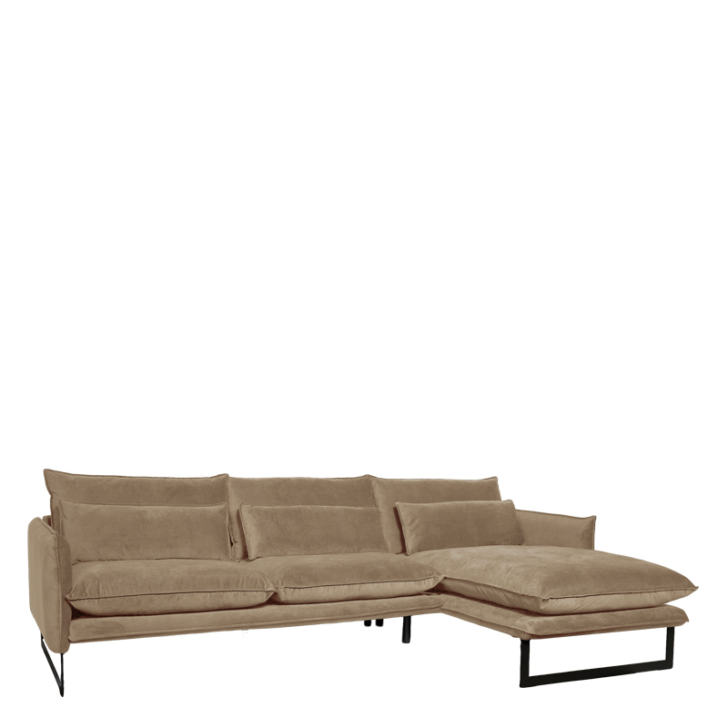 MILAN LOUNGE SOFA RIGHT SEVEN CAPPUCCINO