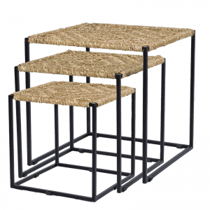 LUCI JUTE COFFEE TABLE S/3 (129591/129592/129593)